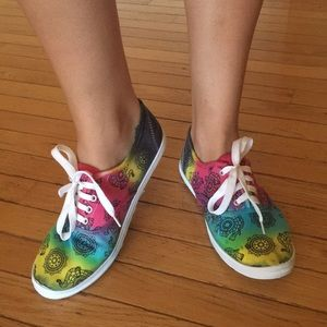 Women's Tie Dyed Mandala Sneakers